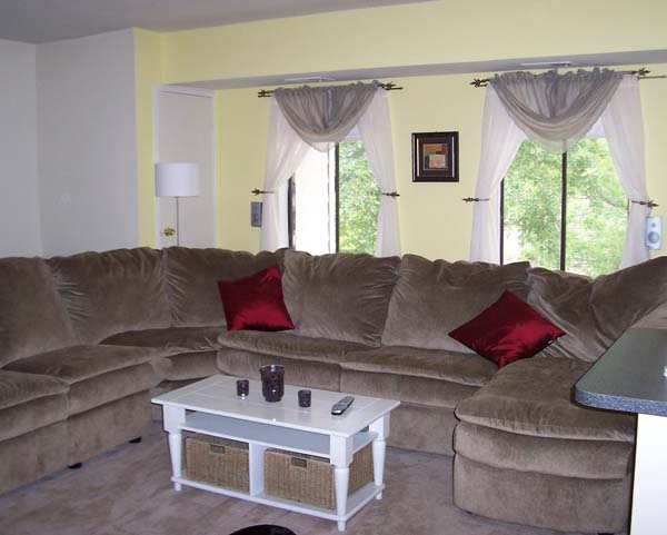 Olive Green Couch Off White Walls