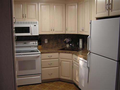 Almond kitchen cabinets for Almond colored kitchen cabinets