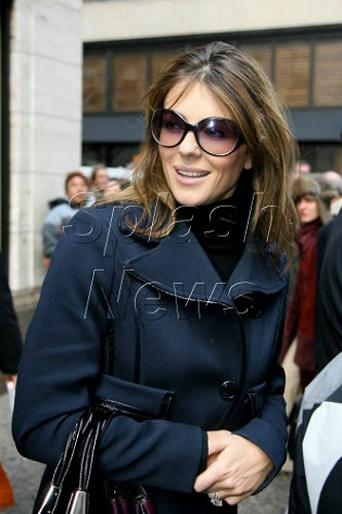 liz hurley hair. Liz Hurley flashes her bling - and her gray hair. Image Attachment(s):