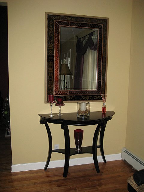 Foyer Mirror Quote : Need a narrow accent table for our foyer