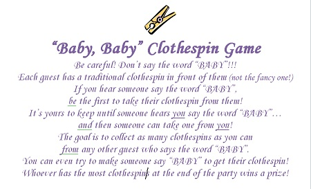 Baby Shower Clothes Pin Game Gorgeous Baby Shower Clothespin Game Did I Get The Rules Right Please