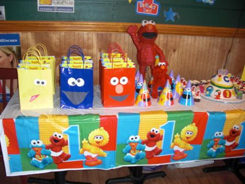 Christophers 1st Birthday PartySesame Street Elmo Theme