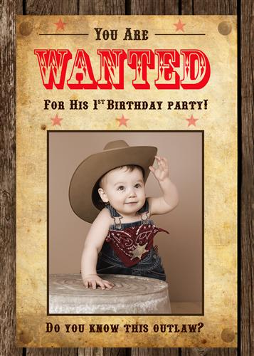 Cowboy First Birthday Invitations Images coloring pages adult