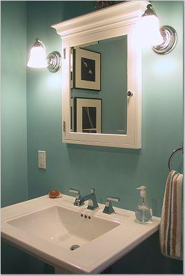 Eggshell paint in bathroom