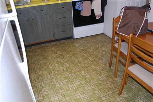 Update with pics we did it putting peel and stick for Stick down linoleum tiles